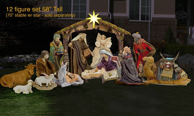 christmas nativity scene yard lawn art - Nativity Christmas Decorations